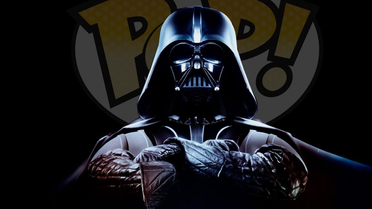 Darth Vader for Force Day with Funko Pop logo behind