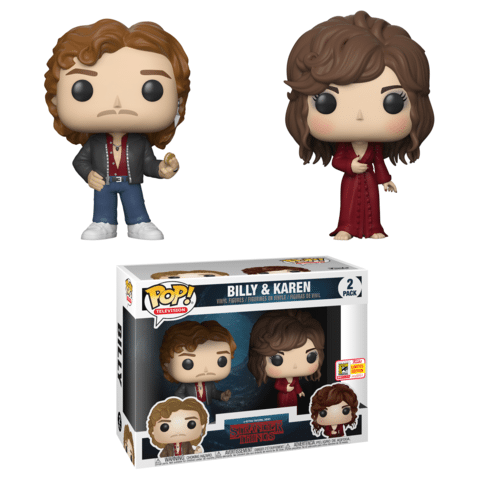 Barnes and Noble exclusive Stranger Things Billy and Karen 2 pack SDCC