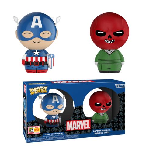 GameStop Captain America and Red Skull Dorbz SDCC 2018