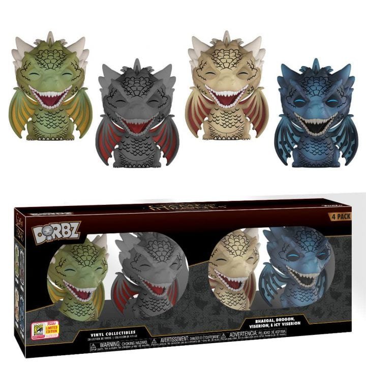 Barnes and Noble Game of Thrones Dragon Dorbz 4 pack SDCC