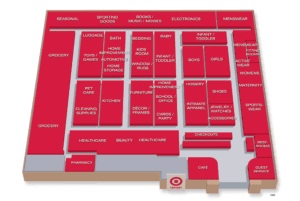 Target store layout diagram