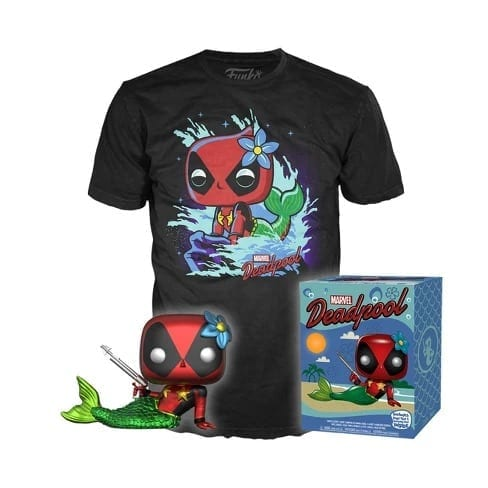 mermaid deadpool and t-shirt combo