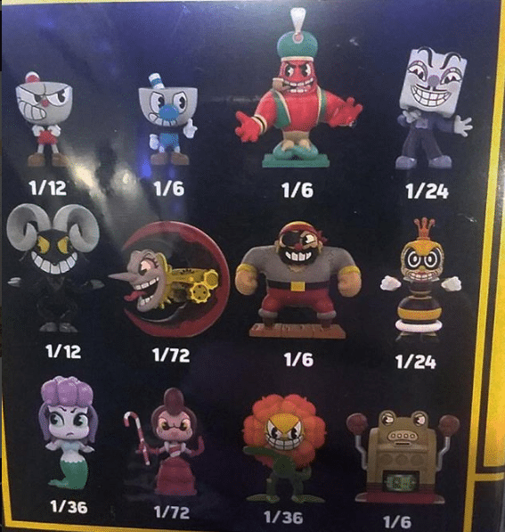Ratios of the Cuphead Mystery Minis Funko