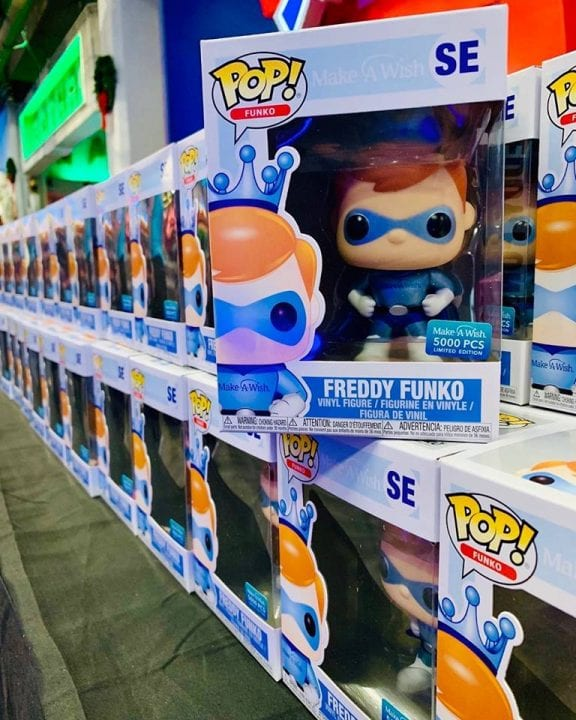 Make-A-Wish Superhero Freddy Funko at Funko HQ