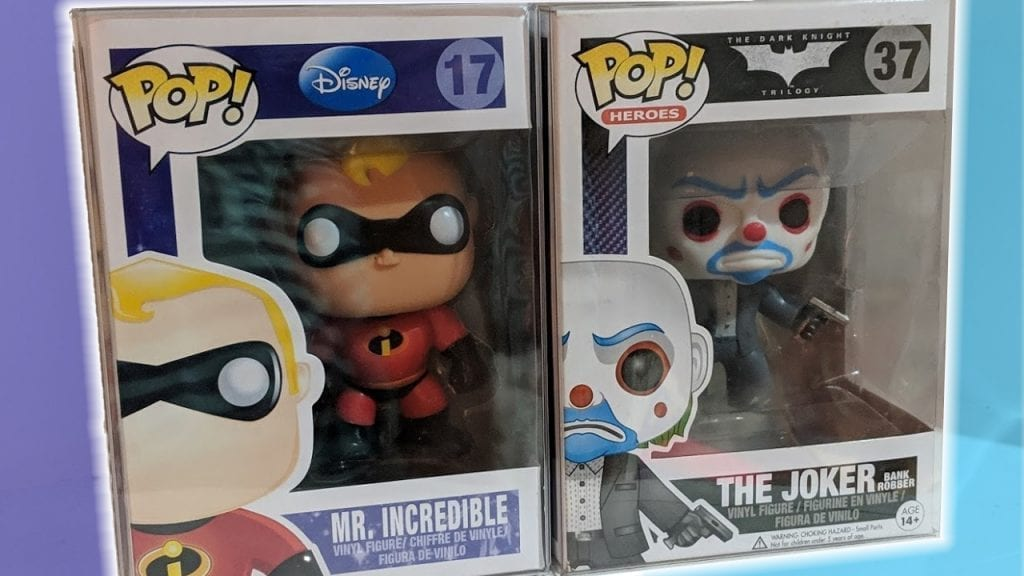 """Two Funko Pop Grails Mr Incredible and Bank Robber Joker - Pop Collectors Alliance Guide to """"What is a Grail"""""""