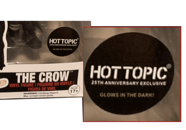 Fake The Crow Glow in the Dark Hot Topic exclusive sticker
