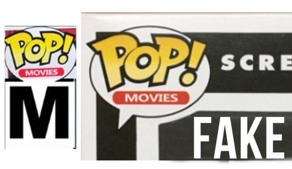 Ghost Face fake 2 Funko Pop box