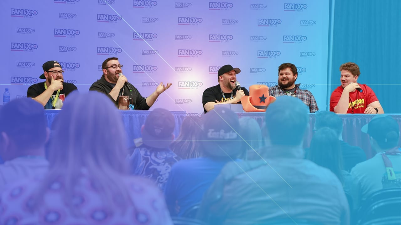 Sully from Funko - Mike and Josh from Talkn' Pops Podcast - Ricky and Piper from Pop Collectors Alliance at Fan Expo Dallas 2019 panel