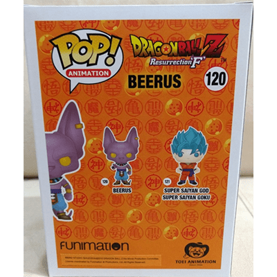 Beerus, Box back-Real