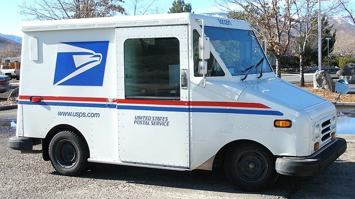 USPS delivery truck