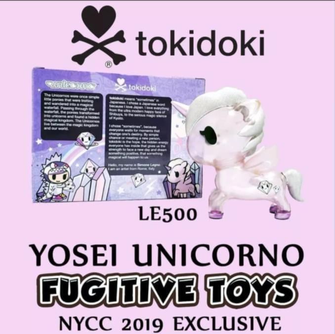 Tokidoki Yosei Unicorno Fugitive Toys exclusive NYCC 2019
