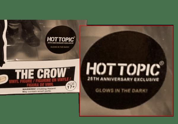 The Crow GITD fake sticker