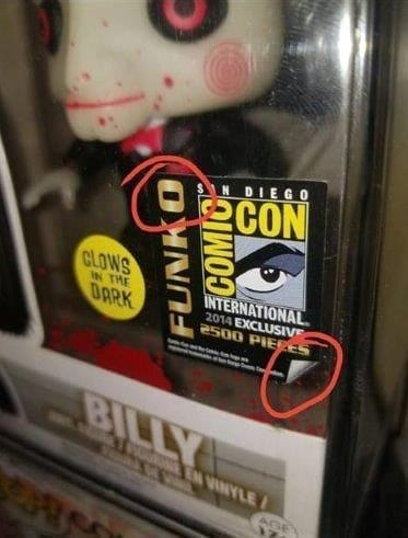 SDCC Billy Sticker Real