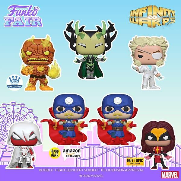 Marvel Infinity Warp Funko Pops