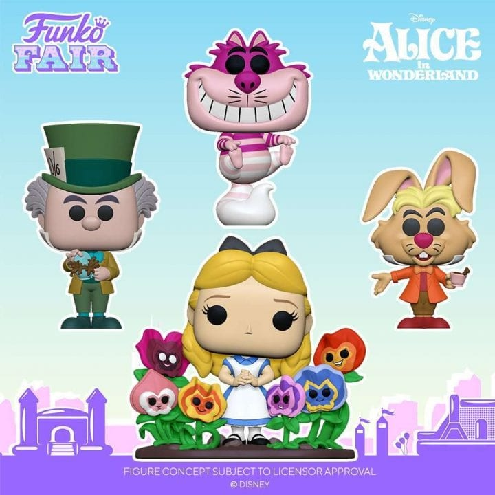 Alice in Wonderland Funko Pops