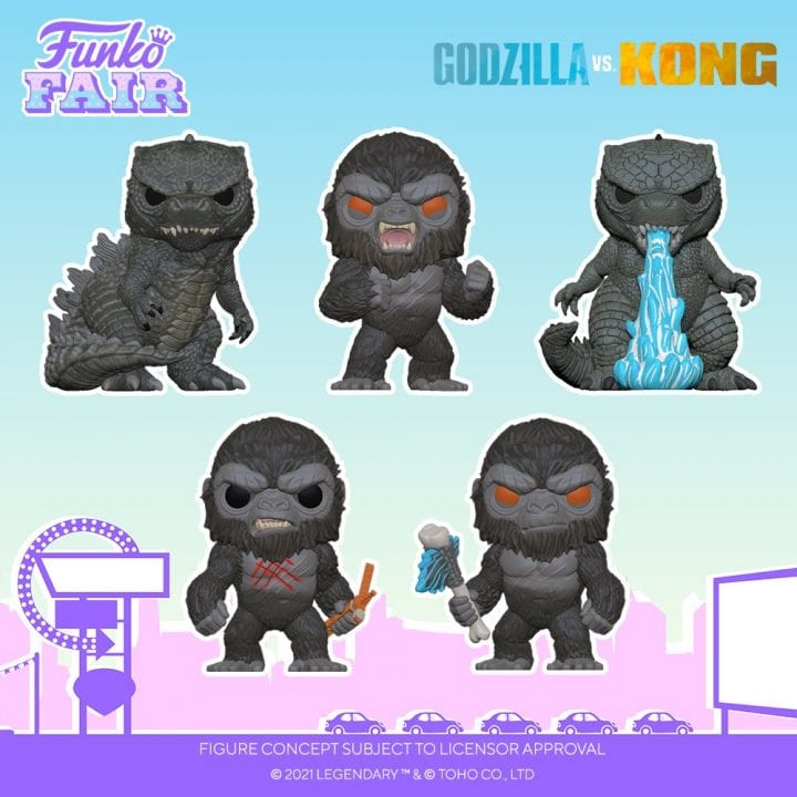 Godzilla vs Kong Funko Pops