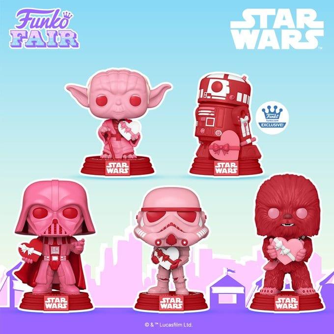 Star Wars Breast Cancer Funko Pops